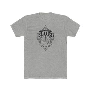 The Blues Cotton Crew Tee in Heather Gray